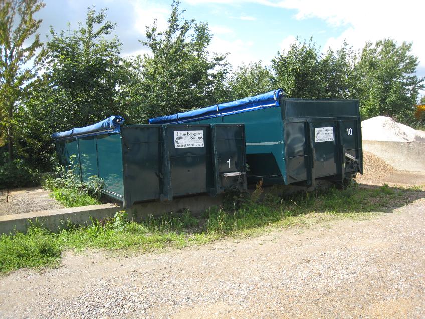 blandet bygge affaldscontainer privat